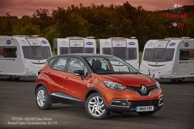 Renault Captur pulls away with Caravan Club award