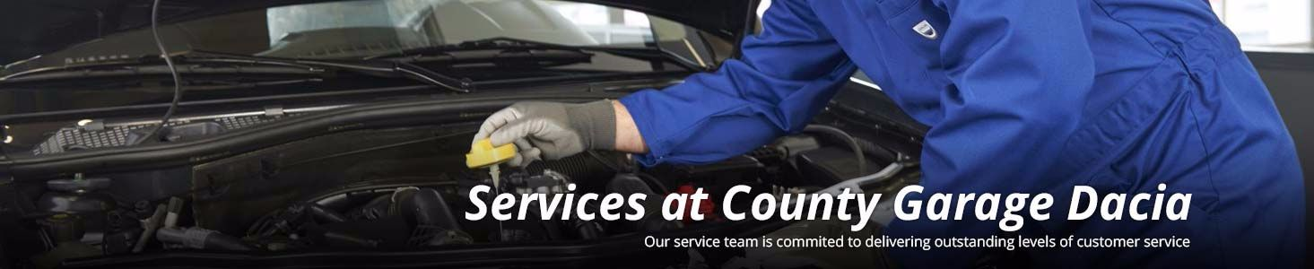 Services at County Garage Dacia, Barnstaple, Devon